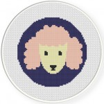 Poodle Portrait Cross Stitch Illustration