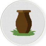 Pot Cross Stitch Illustration