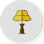 Pretty Lamp Cross Stitch Illustration