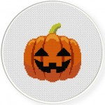 Pumpkin Cross Stitch Illustration