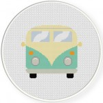 Retro Van Cross Stitch Illustration