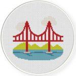 San Francisco Bridge Cross Stitch Illustration