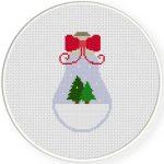 Snow Globe Bulb Cross Stitch Illustration