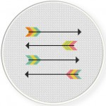 Straight Arrows Cross Stitch Illustration