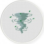 Tornado Cross Stitch Illustration