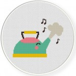Whistling Kettle Cross Stitch Illustration