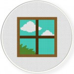 Window Cross Stitch Illustration