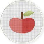 Apple Cross Stitch Illustration