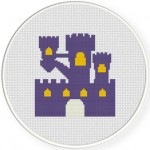 Castle Cross Stitch Illustration