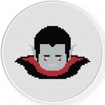 Cute Dracula Cross Stitch Illustration