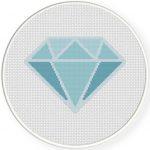 Diamonds Forever Cross Stitch Illustration
