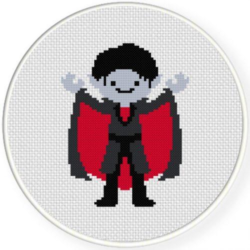 Dracula Cross Stitch Illustration