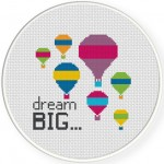 Dream Big Cross Stitch Illustration