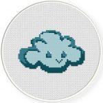 Happy Cloud Cross Stitch Illustration