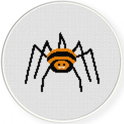 Incy Wincy Spider Cross Stitch Illustration