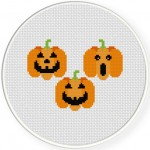 Jack O Lanterns Cross Stitch Illustration