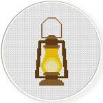 Lantern Cross Stitch Illustration