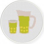 Lemonade Cross Stitch Illustration