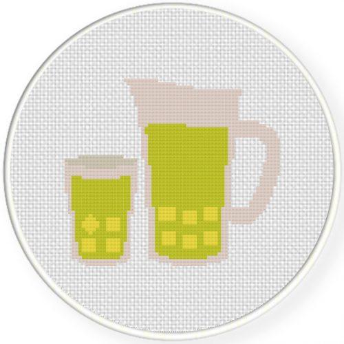 Lemonade Cross Stitch Illustration