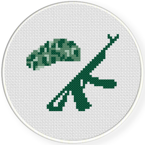 Military Beret Cross Stitch Pattern – Daily Cross Stitch 49181b020ac