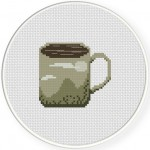 Mountain Coffee Mug Cross Stitch Illustration
