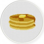 Pancakes Cross Stitch Illustration