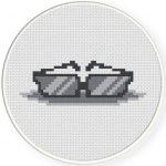 Shades Cross Stitch Illustration