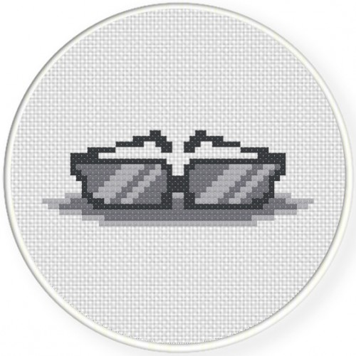 Shades Cross Stitch Illustration