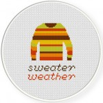 Sweater Weather Cross Stitch Illustration