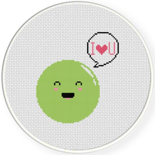 Sweet Pea Cross Stitch Illustration