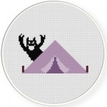 Tent Scare Cross Stitch Illustration