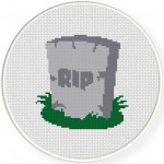 Tombstone Cross Stitch Illustration