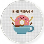 Treat Yourself! Cross Stitch Illustration