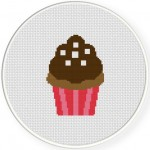 Ultimate Chocolate Cupcake Cross Stitch Illustration