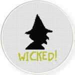 Wicked! Cross Stitch Illustration