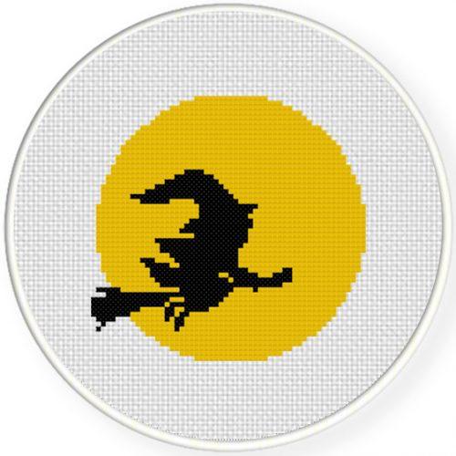 Witch Cross Stitch Illustration