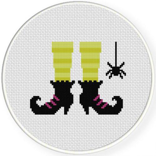 witch u2019s feet cross stitch pattern  u2013 daily cross stitch