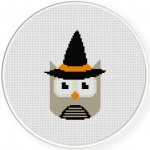 Witchy Owl Cross Stitch Illustration
