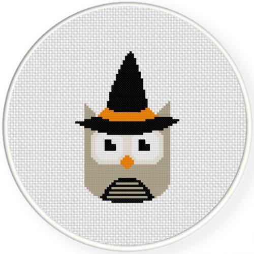 Witchy Owl Cross Stitch Illustration