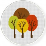 Wonderful Autumn Forest Cross Stitch Illustration