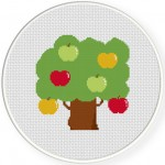Apple Tree Cross Stitch Illustration
