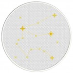 Aquarius Constellation Cross Stitch Illustration