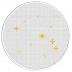 Aries Constellation Cross Stitch Illustration