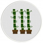 Bamboos Cross Stitch Illustration