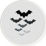 Bats Cross Stitch Illustration