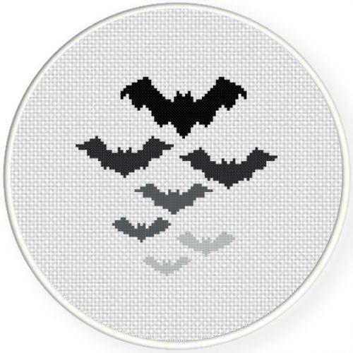 Bats Cross Stitch Illustration
