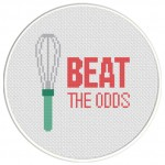 Beat The Odds Cross Stitch Illustration