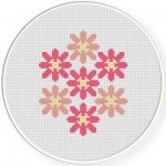 Beautiful Flowers Cross Stitch Illustration