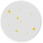 Cancer Constellation Cross Stitch Illustration
