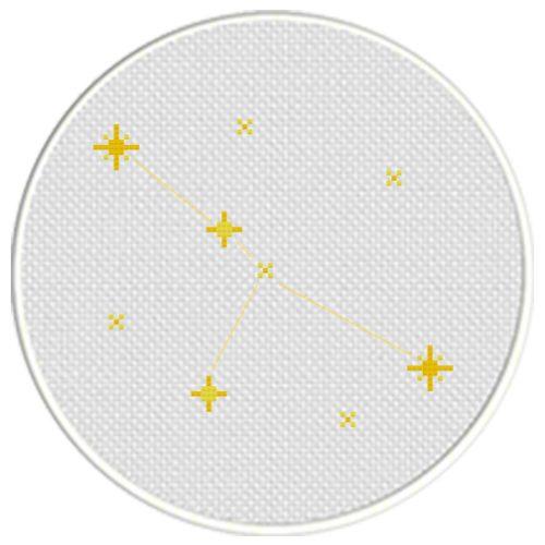 Cancer Constellation Cross Stitch Illustration